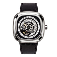 Automatic Timepiece w/Leather Band by SevenFriday