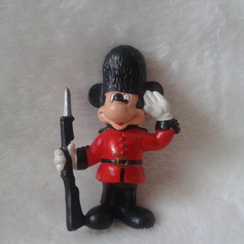 Vintage Disney Bullyland  Mickey Mouse Buckingham guard  pvc  miniature figure