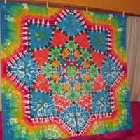 Fading Out - Large Tie Dye Lotus Blossom Tapestrsy/Wall Hanging