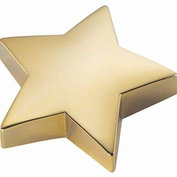 Free Engraving Personalized Goldtone and Silver Star Paperweight