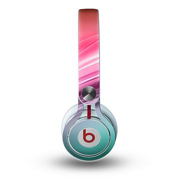 The Red to Green Electric Wave Skin for the Beats by Dre Mixr Headphones