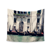 "Sylvia Coomes ""Venice 4"" Blue Travel Wall Tapestry"