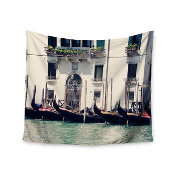 """Sylvia Coomes """"Venice 4"""" Blue Travel Wall Tapestry"""
