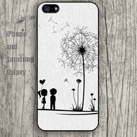 dream dandelions heart cartoon iphone 6 case 6 plus iPhone 5 5S 5C case Samsung S3, S4,S5 case, Ipod touch Silicone Rubber Case, Phone cover