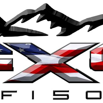 FX4 F150 Mountains American Flag 3D Vinyl Decal Fits All Makes and Models