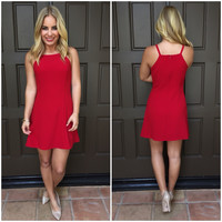 Inspired Glam Red Dress