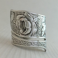 Size 8 Vintage Sterling Silver Towle Orchid Spoon Ring