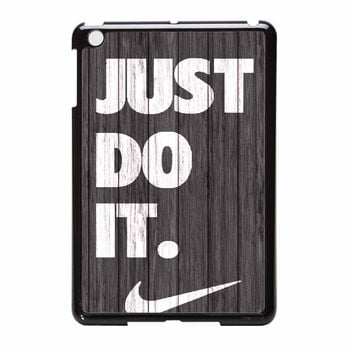 Nike Just Do It Wood Colored Darkwood Wooden iPad Mini 2 Case