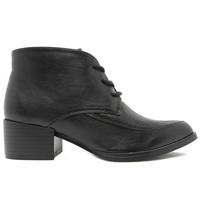 Contrast Lace Up Witchie Boot