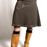 Organic Clothing - Hemp & Organic Cotton Pocket Skirt - Gray