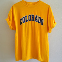 Yellow Colorado Tee Oversized 90's Vintage XL