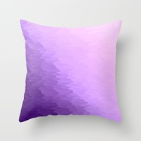 Lavender Ombre Throw Pillow by SimpleChic
