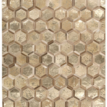 Michael Amini City Chic Amber Gold Area Rug By Nourison MA100 AMBGD (Rectangle)