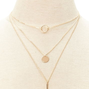Layered Necklace Set | Forever 21 - 1000205583