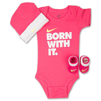 Girls  Infant Nike Born With It 3-Piece Set 982a8fe284