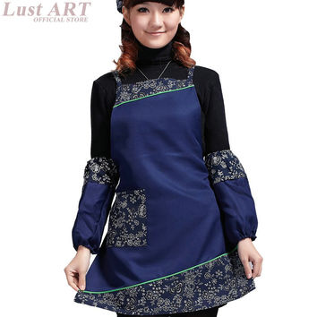 WOMEN TRADITIONAL SEXY ELEGANT APRONS FOR WOMAN LADIES NEW FLORAL COFFEE WAITRESS VINTAGE APRONS CASUAL SCHOOL APRON AA055