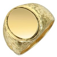 Torrini Designer Men's Rings Oval 18K Yellow Gold Men's Ring