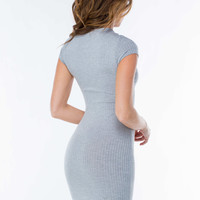 Best Believe Ribbed Bodycon Dress GoJane.com