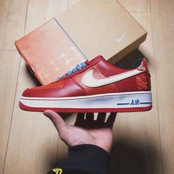 Nike Air force 1  Red  Basketball  Sneakers