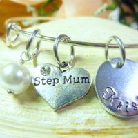 Step Mum bracelet StepMother Personalized Bracelet Step Mom Jewelry Expandable Hand stamped Jewelry