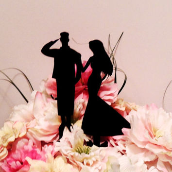 Military Couple Cake Topper
