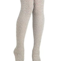 Chevron Knee High Knit Socks