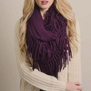 MDIGH3E Perfect Fringe Infinity Scarf