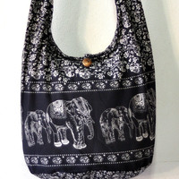 Cotton bag Women bag Handbags  Elephant bag Hippie bag Hobo bag Shoulder bag Sling bag Messenger bag Tote bag