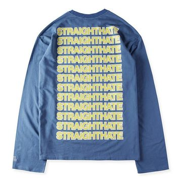 spbest VETEMENTS Long Sleeve T-Shirts Mens Hoodie Sweat Straighthate