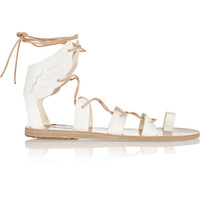 Ancient Greek Sandals - Fteroti leather lace-up sandals