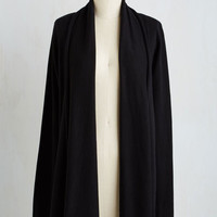 Minimal Long Long Sleeve Comfy My Way Cardigan in Black by ModCloth