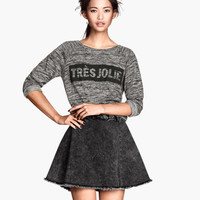 H&M - Denim Skirt - Black - Ladies