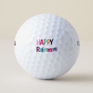 Multicolored Letters Golf Balls