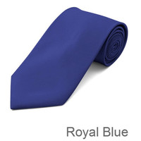 Royal Blue Tie and Hanky Set