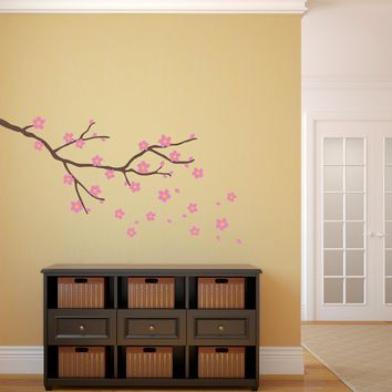 Cherry Blossom Branch Wall Decal - Flower Wall Decal - Branch Wall Sticker - Medium