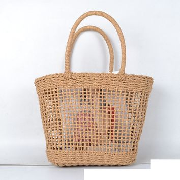 Textured Woven Tote Bag