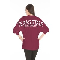 University Bookstore at Texas State - Texas State Game Day L/S TShirt - Maroon