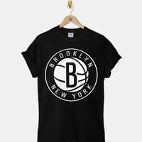 Brooklyn Nets DTG ScreenPrint 100% pre-shrunk cotton for t shirt mens and t shirt woman at kahitna