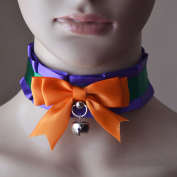 Joker - Pleated Pet Play Collar