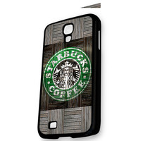Wood Print Starbucks Coffee Logo Samsung Galaxy S4