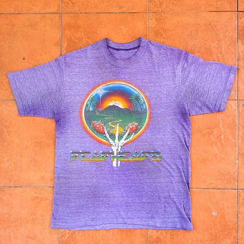 ON SALE 80's Vintage GRATEFUL Dead Deadheads Jerry Garcia Concert Tour Music 1983 Rock Soft Thin t shirt