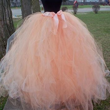 Fashion floor-length Wedding Tulle Skirt Overskirt Girls Fluffy Adult Tutu Dance Mesh Skirt Petticoat Faldas Saias Jupe