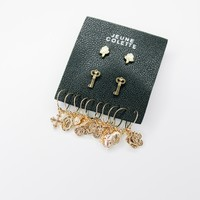 Charm Mini Hoop Earring Set