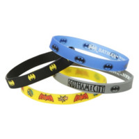 DC Comics Batman Gotham Rubber Bracelet 4 Pack