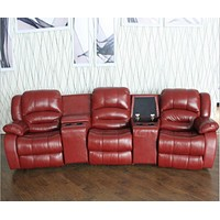 Luxury Recliner Sofa, Leather Cinema theater sofa chaise bed couch