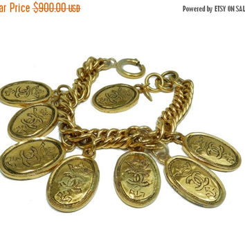 SALE SaLe Chanel Bracelet, Chanel Charm Bracelet, Coco Chanel, Vintage Jewelry, Statement Fashion Jewelry, Authentic Chanel