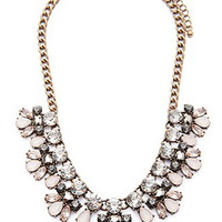 Faux Gemstone Statement Necklace