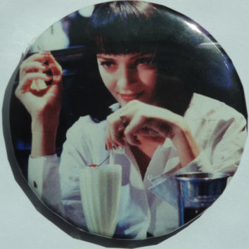 Mia Wallace Pinback Button - 2.25 Inch