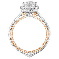 1.08 Carat GIA Cert Diamond Two Color Gold Engagement Ring