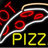 Hot Pizza Neon Sign